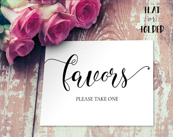 Favors please take one Sign INSTANT DOWNLOAD
