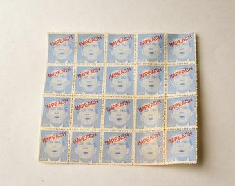 Impeach Nixon Stamps, ACLU, Presidential Memorabilia, 1974 Political Memorabilia