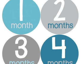 Monthly Baby Milestone Stickers Baby Boy Baby Shower Gift One-Piece Baby Stickers Monthly Baby Stickers Baby Month Sticker 158