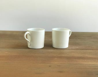 Homer Laughlin White Expresso Cups
