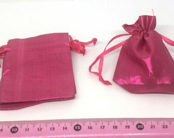 20 fabrics bags Pink mother of Pearl, bronze dimension: 8.5/6.5cm