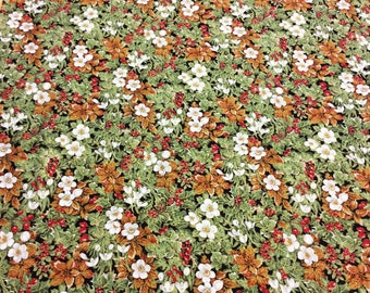 Fabric Freedom F520 Winter Bouquet Metallic Hues Patchwork Quilting