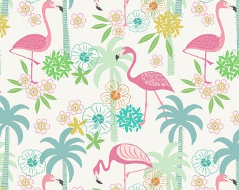 Half metre Lewis & Irene Patchwork Quilting Fabric Tropicana A131.1 White