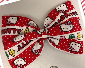 Sweet Hello Kitty holiday hair bow