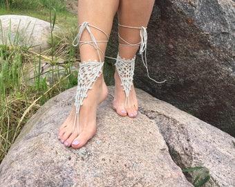 sale gray Barefoot sandals women Sandals sandals women barefoot wedding sandals wedding barefoot Nude Shoes women accessories bridal sandals