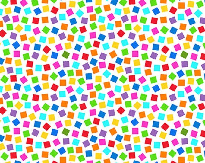 PROJECT LINUS - Confetti Toss in White - Peanuts Charlie Brown Cotton Quilt Fabric - Quilting Treasures Fabrics - 22328-Z (W4020)