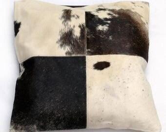 Natural Cowhide Luxurious Patchwork Hairon Cushion/pillow Cover (15''x 15'')a274