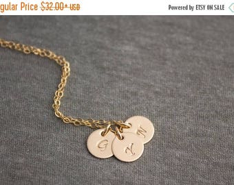 Close Out Sale Personalized Initial Charm 14k Gold Filled Necklace