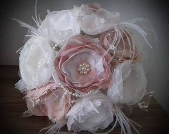 Fabric bouquet/Vintage bridal bouquet