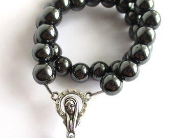 hematite orthodox prayer rope chotki komboskini brojanica Christian prayer beads gift for him religious jewelry inspirational jewelry