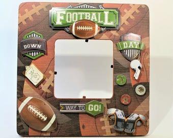 Football Team/Football/Sports/Go team/table decor/Frame