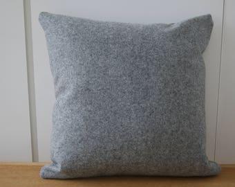 Grey Felted Wool Cushion 40 x 40 cm