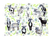 Goats and Wildflowers 8x10 Archival Print