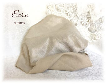 Italian VISCOSE Fabric Fur Ecru Colour 4 mm pile 1/8 metre or more teddy bear making supplies plush