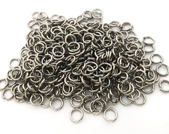 200x Silver Plated 6mm (19ga) Jump Rings - F086