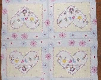 Paper towel / Napkins hearts/birthstones