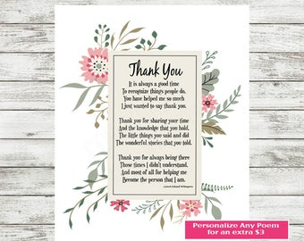 Teacher Appreciation Gift, Preschool Teacher, Teacher Print, Student Thank You, Tutor Gift, Nursery School,  Daycare Teacher Gift