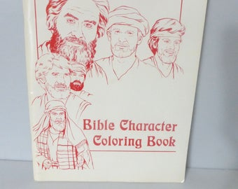 Rare jehovah witness etsy 021818bb12 scarce bible character coloring book 12 x 9 by madzay color graphics jehovahs m4hsunfo