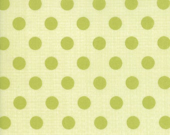 In Stock JEN KINGWELL New 2017 CIRCULUS Polka Dots )in Banana Leaf Moda Fabric
