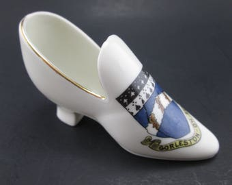 Vintage Crested Ware Gorleston on Sea Ladies Shoe / Slipper