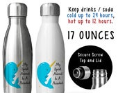Reusable Soda Water Bottle, My Spirit Animal Is A Narwhal 001, Narwhal Gift, Ocean Unicorn, Narwhals, Gift Idea, Stainless Steel Bottle