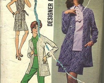 25% OFF Simplicity 8870   Misses Overblouse,Mini Skirt, Pants, Jacket   Size16  Vntg