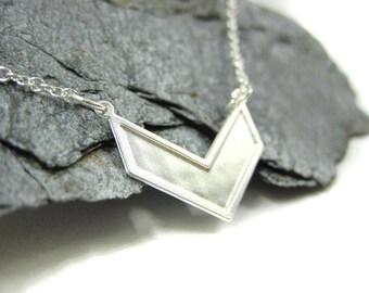 Unique Bride, Silver Wedding Necklace, Alternative Wedding Jewelry, Silver Plated Necklace, Wedding Plated Necklace, Chevron Jewelry,