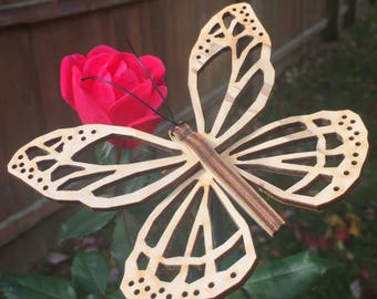 Laser cut butterfly sculpture