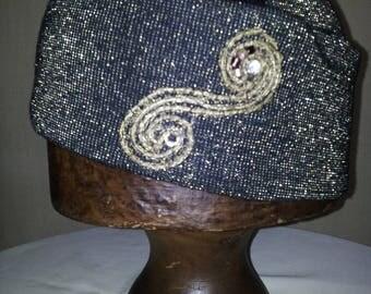 HAT OR CAP BLACK SPIRAL STRIPE JERSEY