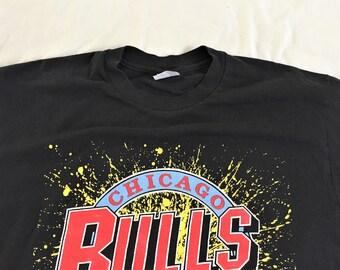 Vintage 90s Stedman 1991 Chicago Bulls T Shirt Large