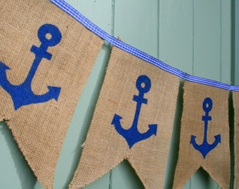 Anchor Nautical  Bunting Garland Decoration
