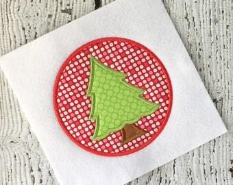 Christmas applique - tree applique - holiday applique - applique design - embroidery design - Christmas Embroidery - christmas tree applique
