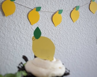 SALE! Lemon Banner! Party Decor! Birthday Party! Summertime! Tea Party! Lemons!