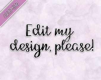 Personalization Add-On | Edit my design