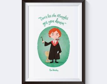 Cute Ron Weasley print