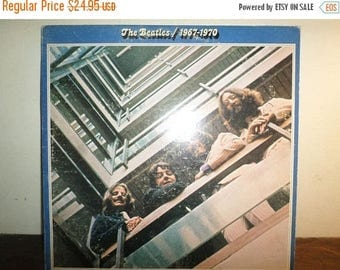 Save 30% Today Vintage 1973 LP Record The Beatles 1967-1970 Apple Records Custom Label Very Good Condition 10444
