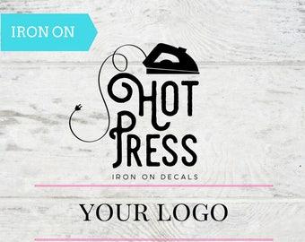 Business Logo - Iron On - Decal - Applique - Business Brand - T Shirt - Tank Top - Marketing - Apparel - Etsy Logo - DIY - Business Starter