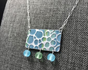 Recycled Tin Flowers Necklace