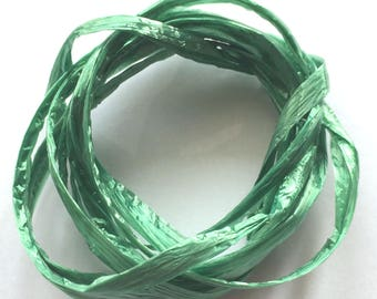 Green colored raffia