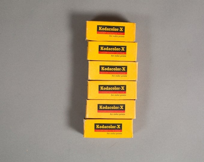 Kodacolor-X Colour Negative Film - 6 Rolls of Vintage 1970's Kodak CX 120 Film - Professional Expired Color Film from the 70's