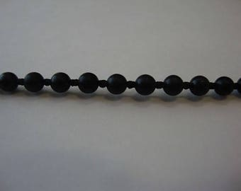 Black #10 Beaded Chain, Close Spacing  Perfect For Roller Shades 100 Feet