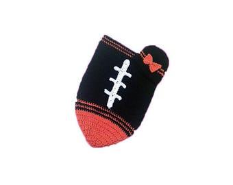 Cincinnati Fan Favorite Baby Girl Football Cocoon & Hat (Newborn to 3 months)