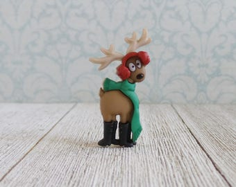 Redneck Reindeer - Hunter - Winter - Ear Muffs - Scarf - Christmas - Santa - Lapel Pin