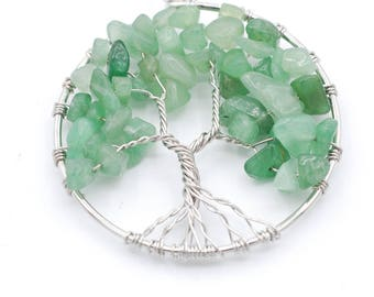 Green Aventurine Tree of Life 50 mm Pendant