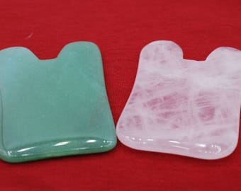 Gua Sha Body/Facial Massage Stone available in 3 different stone colors