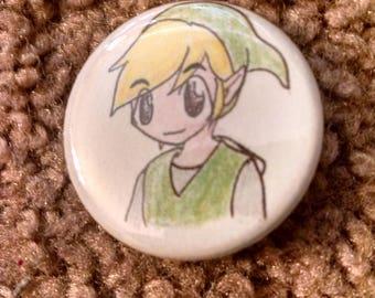 Button - Legend of Zelda - Link