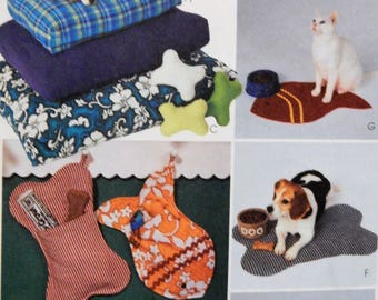 McCall's 3472 Pet accessories pattern - beds, pillows, collars and more Uncut