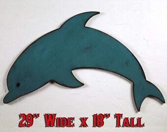 Dolphin Wood Sign Wood Dolphin Decor Dolphin Wall Decor Dolphin Wall Hanging Boys Room Decor Nautical Boys Room Nautical Theme Decor Beach