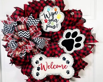 LARGE Padded Feltie Paw Print - Wipe your Paws - Welcome Dog Bone - 4 x 4, 5 x 7, 6 x 10 and 8 x 12 Included  - DIGITAL Embroidery Design