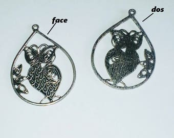 X 1 large 50mm OWL pendant